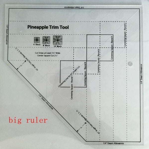 Pineapple Trim Ruler