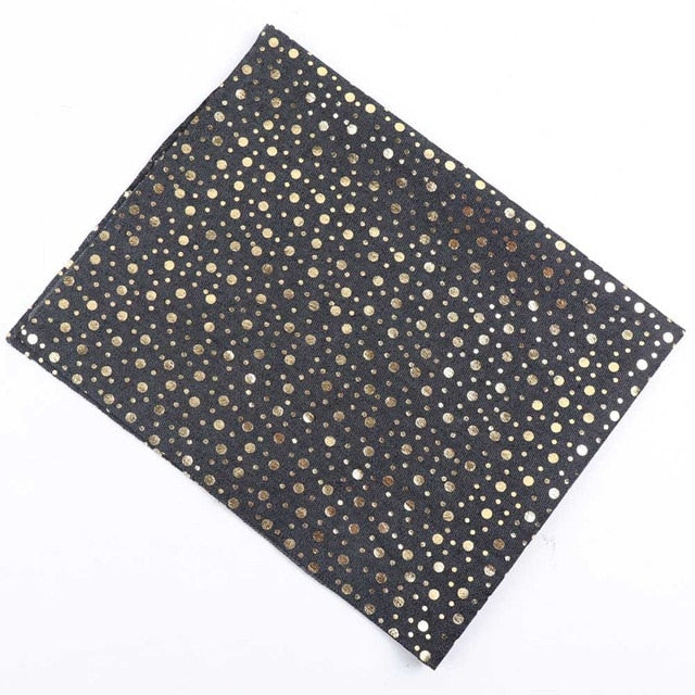 "Soft Cotton Denim Fabric (16"" x 20"") Awesome Dots Star"
