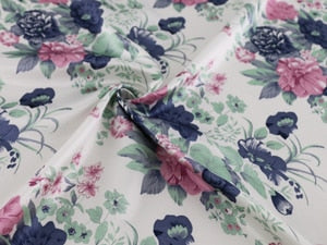 Flowers Satin Soft Vintage Polyester Charmeuse