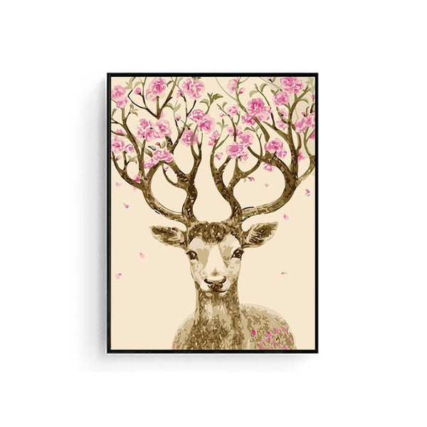 Painting By Numbers Deer Flower