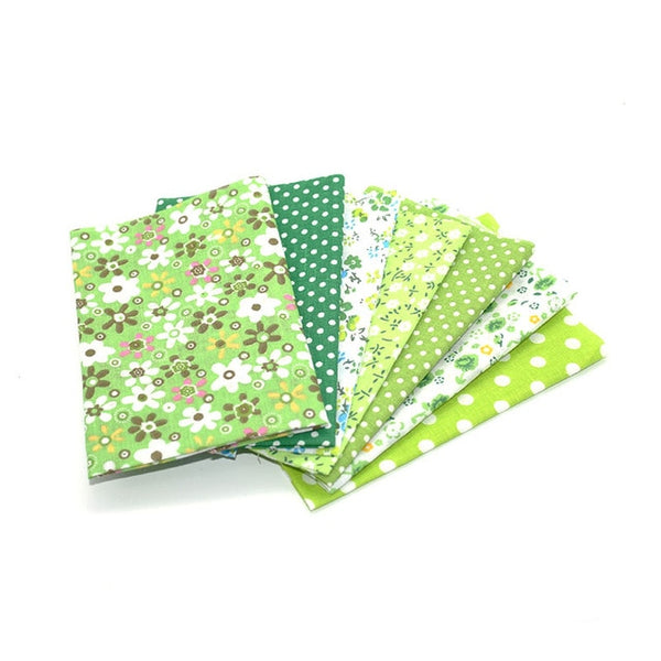"7Pcs Cotton Fabric Printed Cloth (10"" x 10"") Multi Style"