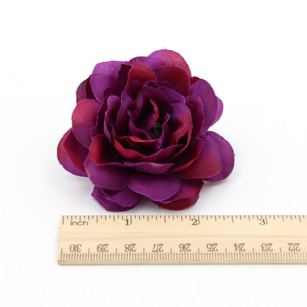 2pcs Silk Flower Dahlia Rose Artificial Flower Head