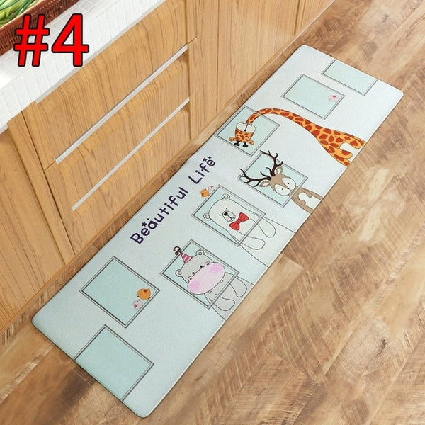 Kitchen Carpet Waterproof Bedroom Mat Cartoon Print