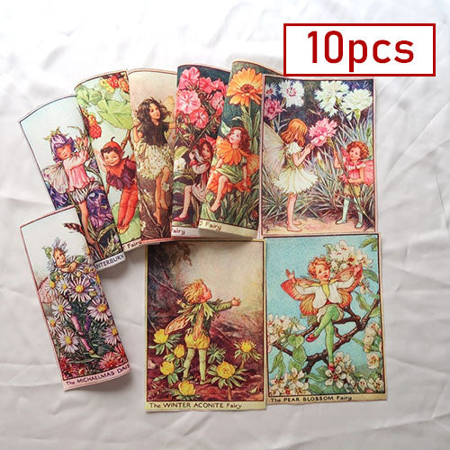"10pcs Hand Dyed Fabric (6"" x 8"") Fairies Collection"