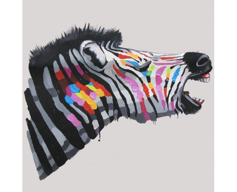 Frame Painting By Numbers Colored Zebra