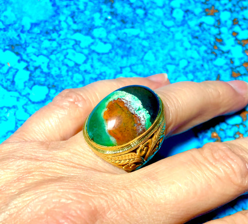 Ring with Pancawarna Agate