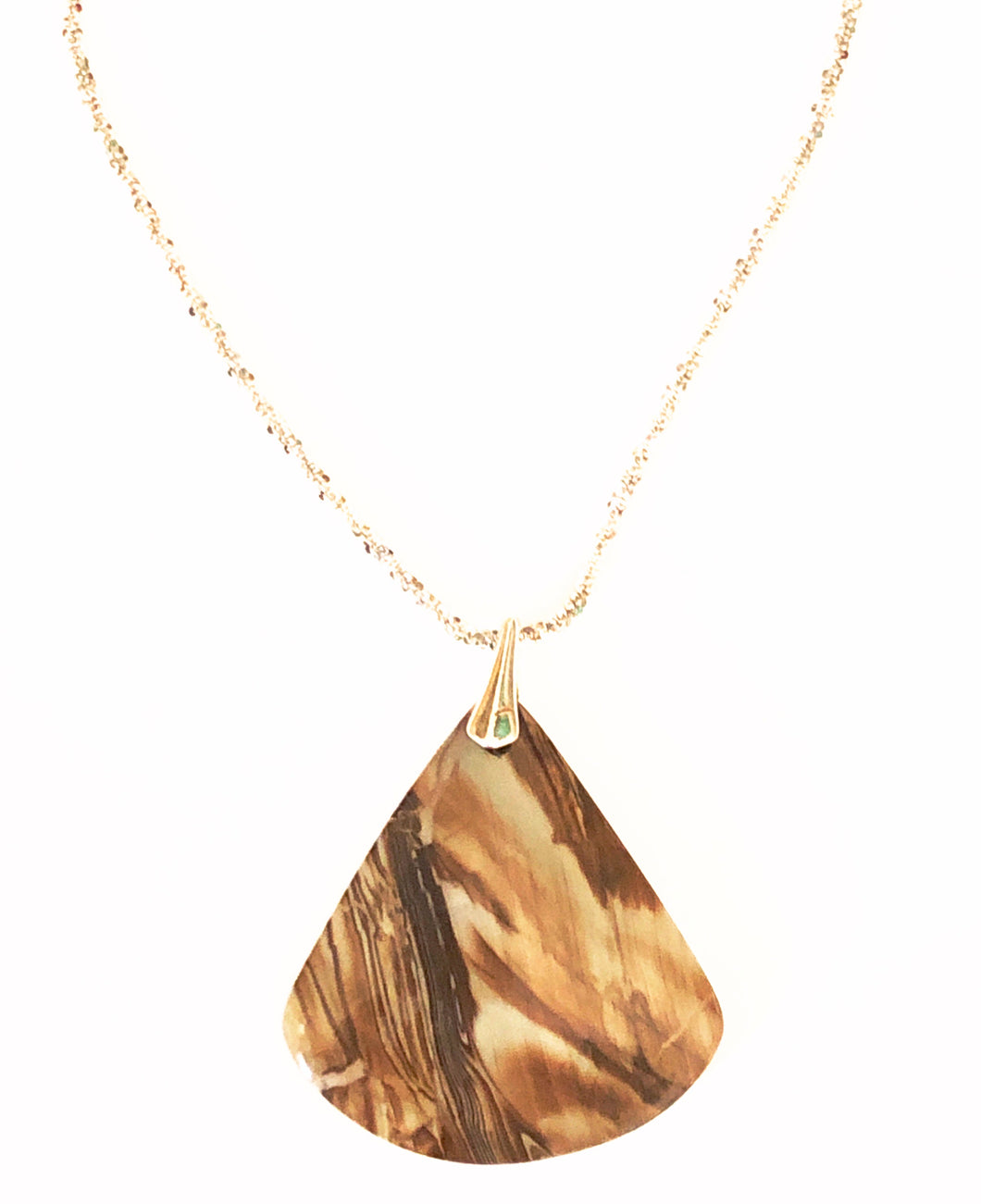 Pedant with triangle picture jasper