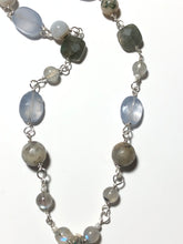 Necklace with green Moss Agate