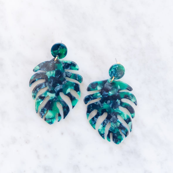 Tropical Banana Leaf Earrings