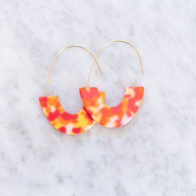 Bright Orange Acrylic Earring