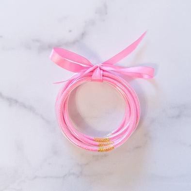 Neon Pink Party Bangles