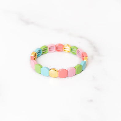 Easter Egg Colored Tile Bracelet