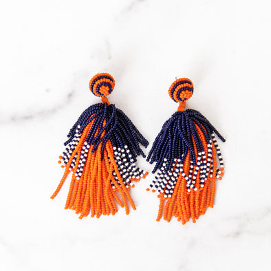 Take It Back Beaded Astros Earrings