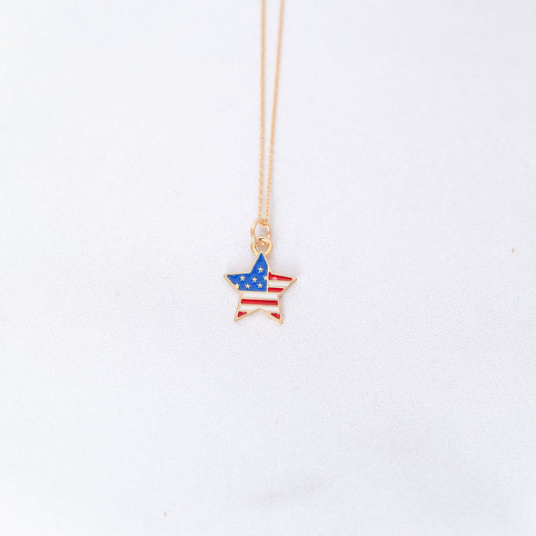 Let Freedom Ring | Patriotic Star Necklace