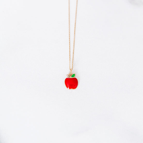 Back-to-School Apple Necklace