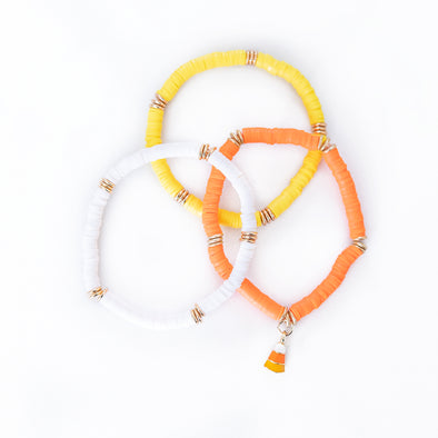 Candy Corn Bracelet Set