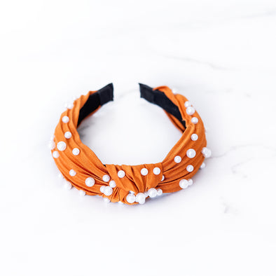 Burnt Orange + Pearl Headband