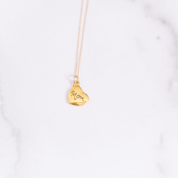 Mom | Golden Heart Necklace