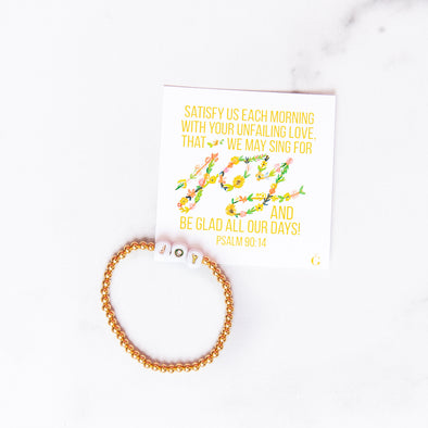 JOY | Gold Beaded Bracelet