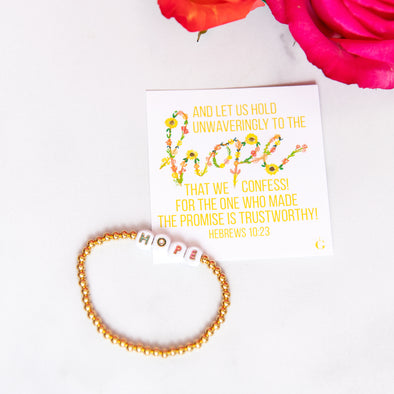 HOPE | Gold Beaded Bracelet