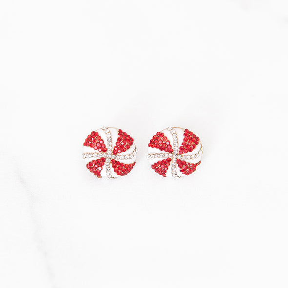 Peppermint Wishes Stud Earrings