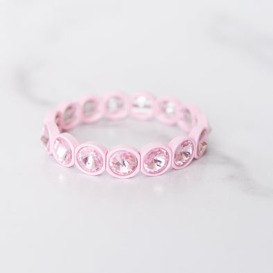 Light Pink + Pink Gemstone Bracelet