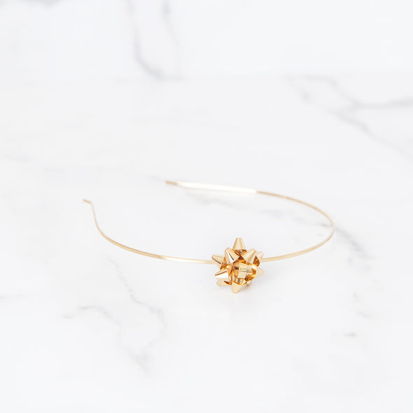 Wrapped Up In A Bow | Gold Headband