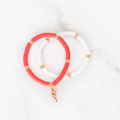 Candy Cane Lane Bracelet Set