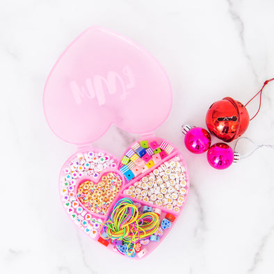 Pink Heart-Shaped Jewelry-Making Kit