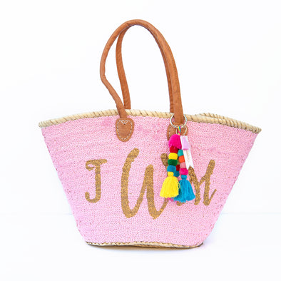 PINK All-Sequin Beach Bag | Large