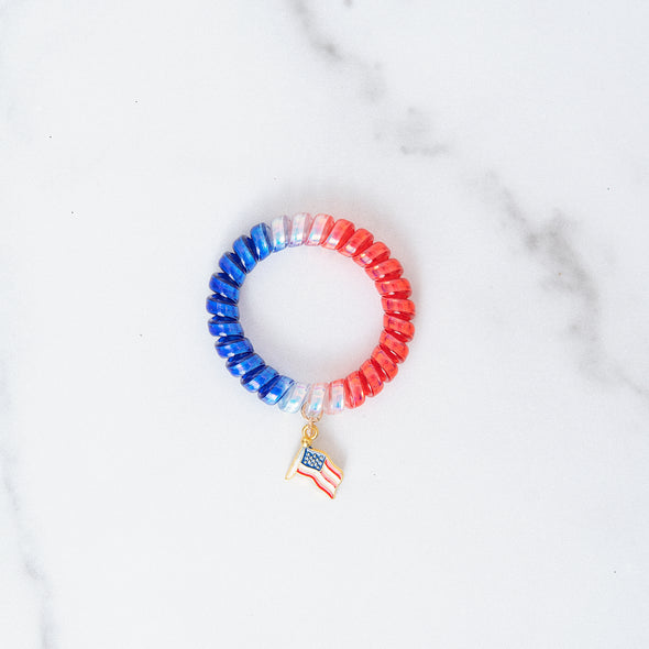Ombre Patriotic Stretch Bracelet