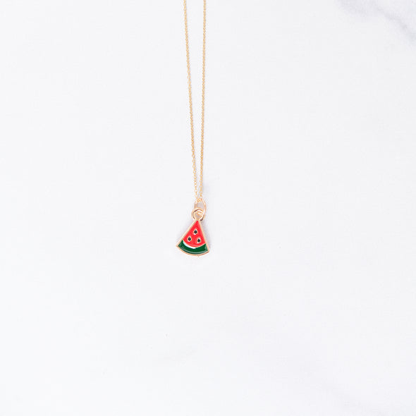 Watermelon Slice Charm Necklace