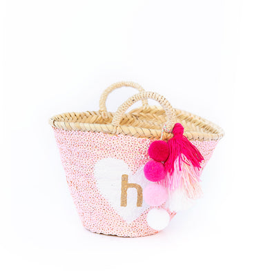 PINK All-Sequin Beach Bag | Mini