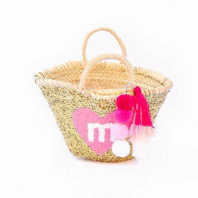 GOLD All-Sequin Beach Bag | Mini