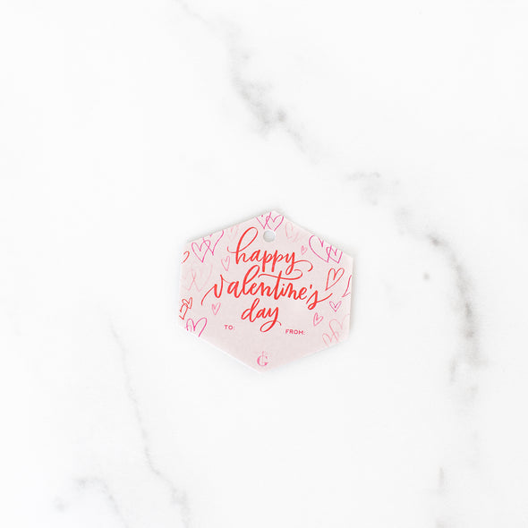 Happy Valentine's Day Gift Tag