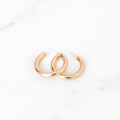 Classic Thick Gold Hoop Earrings