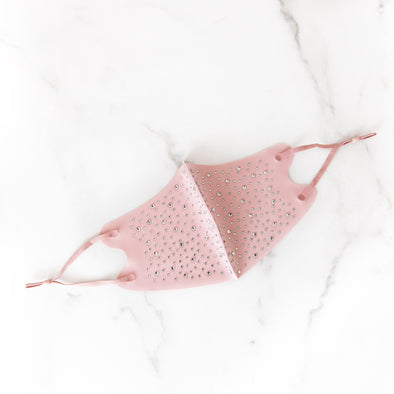 Adult Embellished Mask | Pink