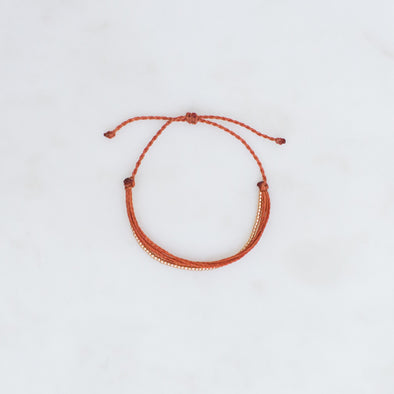 Burnt Orange Cord Bracelet