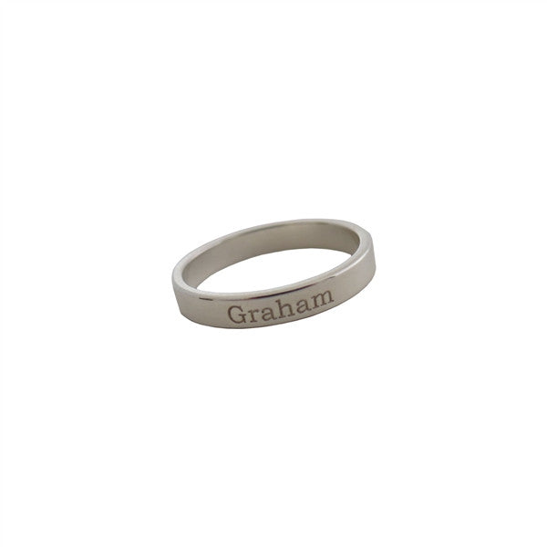 Sterling Silver Personalized Band