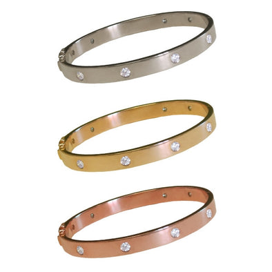 Signature Diamond Bangle | 14-Karat