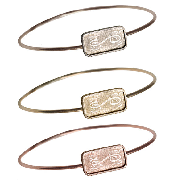 Large Edge Rectangle Bangle | 14-Karat