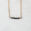 Black Diamond Bar Bracelet | 14-Karat