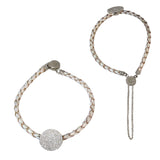 Diamond Disc Leather Bracelet | 14-Karat