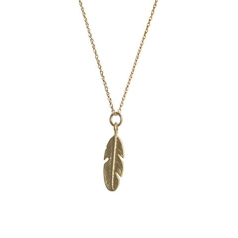 Matte Gold Feather