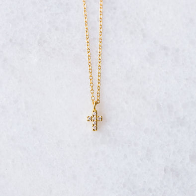 CZ Cross Necklace