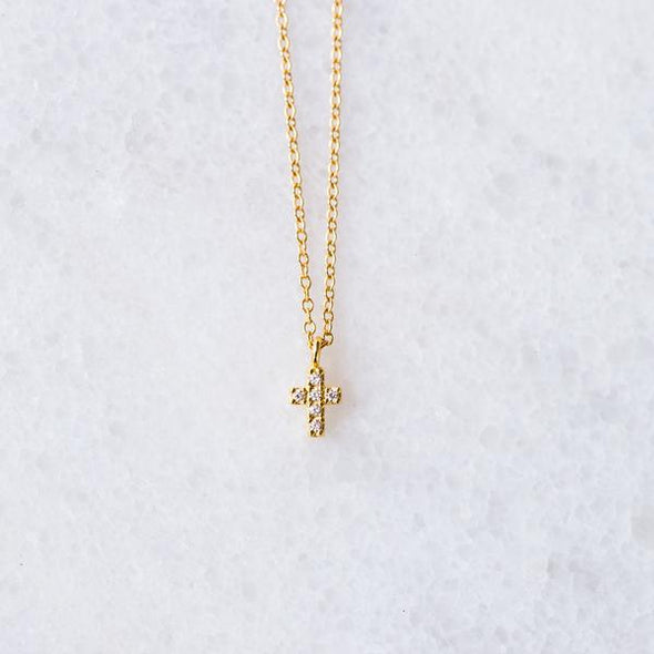 CZ Cross Necklace for Baby and Child