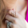 Diamond Antler Ring | 14-Karat