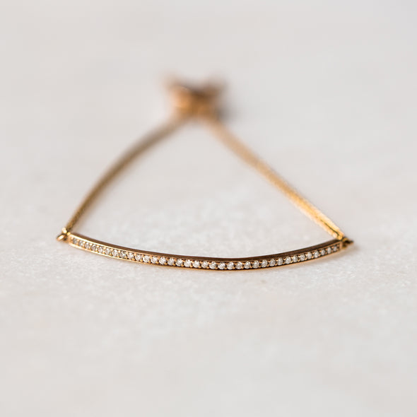 Diamond Bar Bracelet | 14-Karat