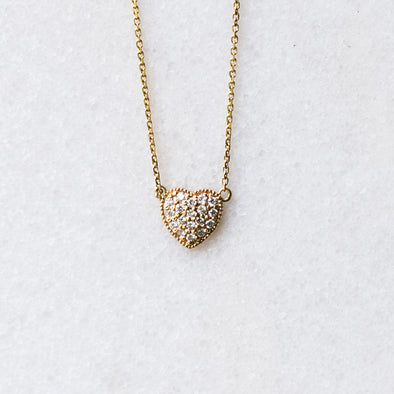 Diamond Heart Necklace | 14-Karat
