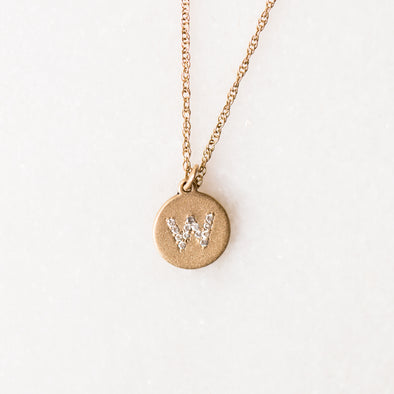 Lower Case Diamond Letter Necklace for Baby and Child